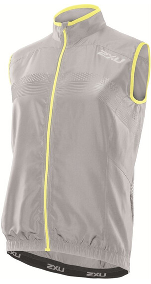 2XU M's Microclimate Reflector Vest Concrete Grey/Pale Yellow